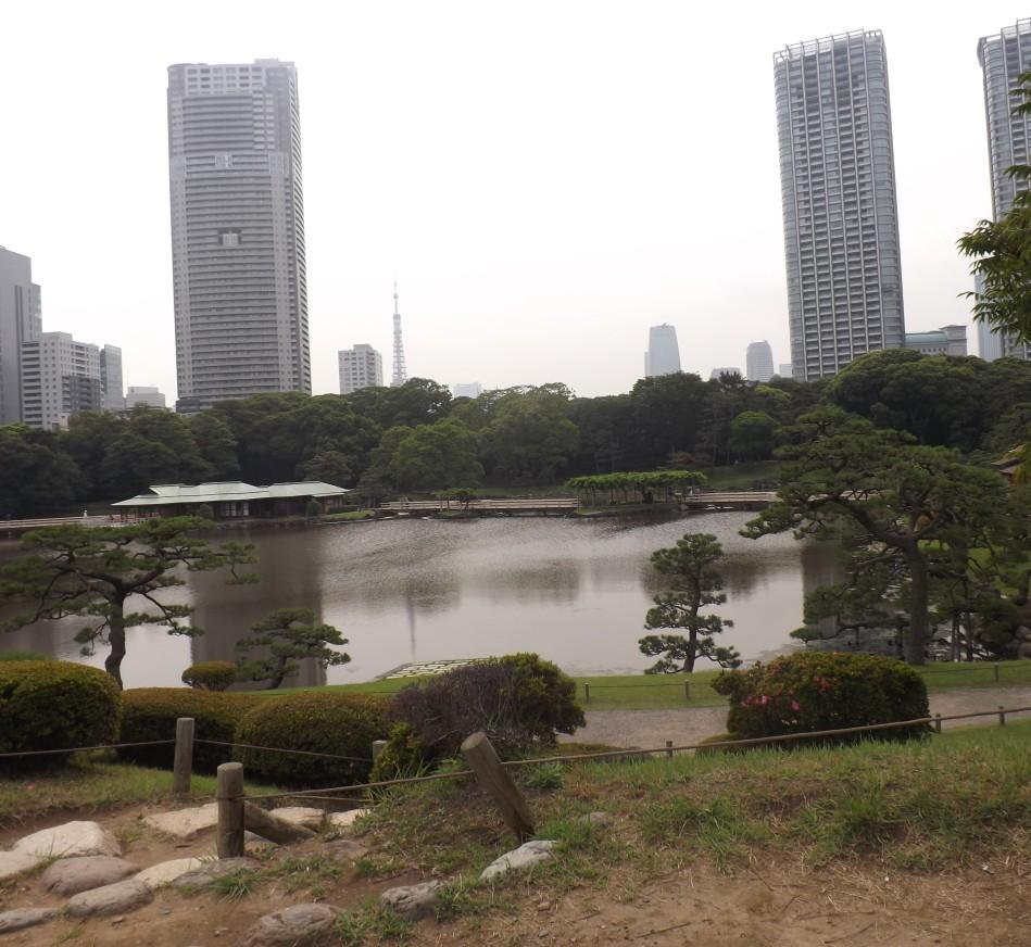 Hamarikyu Gardens in Tokyo, Japan